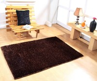 Hand Tex Brown Polyester Carpet(90 cm  X 150 cm)