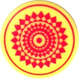 Indiavibes Plastic Carrom Striker (Yello...