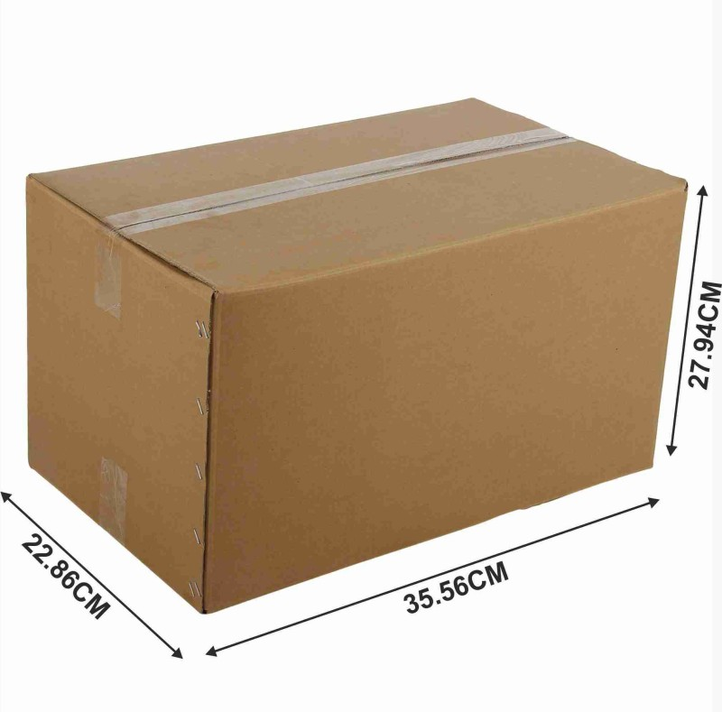 GUJARAT PACKAGING INDUSTRIES Corrugated Paper, Craft Paper Storage & Shipment Packaging Box(Pack of 10 Brown)