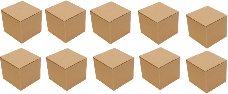Dcgpac Corrugated Craft Paper Storage, Shipment Packaging Box(Pack of 10 Brown)