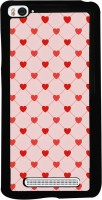 Snapdilla Back Cover for Mi 4i, Xiaomi Redmi Mi 4i(Light Background Cute Little Red Hearts Pattern Simple Different Back Cover)