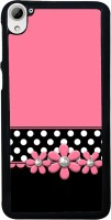 Snapdilla Back Cover for HTC Desire 826 Dual Sim(Pink Background White Dots Pattern Flower Beads Rakhi Gift Back Cover)