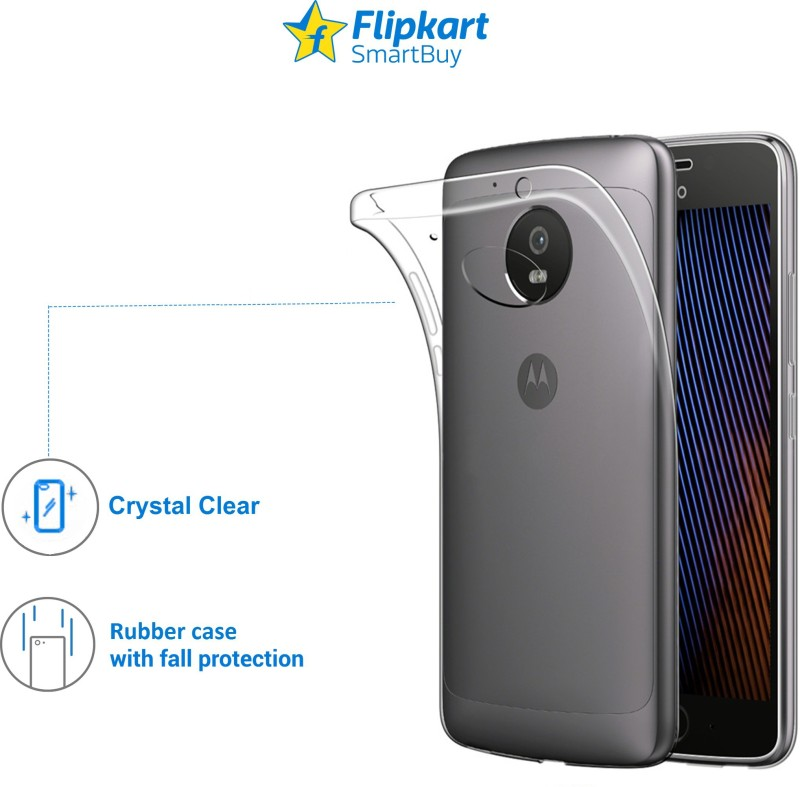 Flipkart SmartBuy Back Cover for Motorola Moto G5 Plus(Transparent)