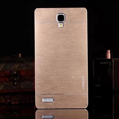 motomo Back Cover for Xiaomi Redmi Note 3G, Mi Redmi Note 4G(Gold)