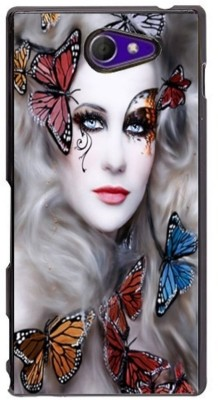 Sony Xperia M2 - Butterfly lady 2D Mobile Case Cover Multicolour Metal / Plastic - 50 g