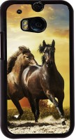 Snapdilla Back Cover for HTC One M8, HTC M8, HTC One M8 Eye, HTC One M8 Dual Sim, HTC One M8s(Sunset Wild Horse Run Superb Hd Photo Back Cover)