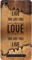99Sublimation Back Cover for Intex Aqua Power Plus, Intex Aqua Power+(Live The Life You Love) best price on Flipkart @ Rs. 437