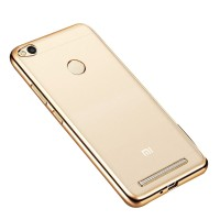 online store 22daf 6ac0a amke Back Cover for Redmi 3s, Redmi 3s Prime(Golden Transparent)