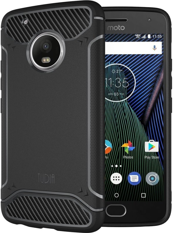 Tudia Back Cover for Motorola Moto G5 Plus(Black)