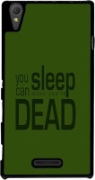 Snapdilla Back Cover for Sony Xperia T3(Green Background Crazy Funny Mad Dead Quote Unique Back Cover)