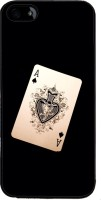 Snapdilla Back Cover for Apple iPhone 4(Funky Crazy Vintage Playing Card Modern Deck Black Color Back Cover)