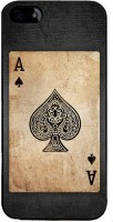 Snapdilla Back Cover for Apple iPhone 4(Black & White Vintage Ace Kalavar Spade Playing Deck Card Back Cover)