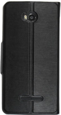Mercator Flip Cover for Micromax Canvas Spark 3 Q385(Techno Black)