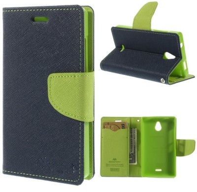 STYLE CLUES FASHION Flip Cover for Lenovo A6000 green Cover MERCURY Fancy Leather Wallet Flip Stand Case