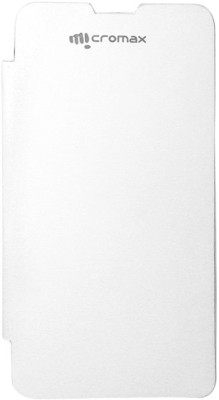 Canvas Flip Cover for Micromax Unite 2 A106 White (White)