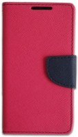LOOPEE Flip Cover for micromax canvas doodle 4 q391(Pink)