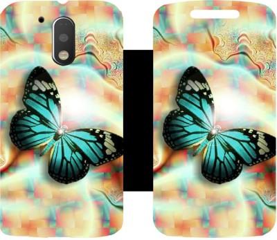 Skintice Flip Cover for Motorola Moto G (4th Generation) Plus(Beige)