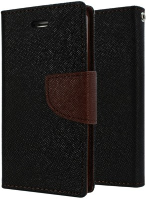 APE Flip Cover for Htc Desire 816G (Black, Brown)