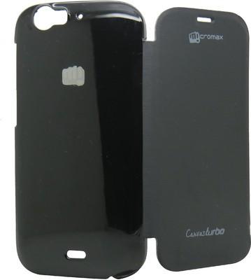 PBH Flip Cover for Micromax Canvas Turbo A250 (Black)