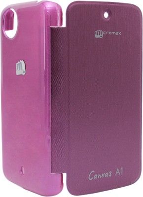 DMG Flip Cover for Micromax Canvas A1 Android One (Purple)