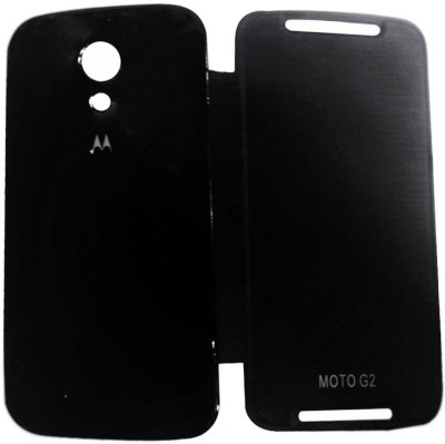 Accezory Flip Cover for Moto G (2nd Gen) (Black)
