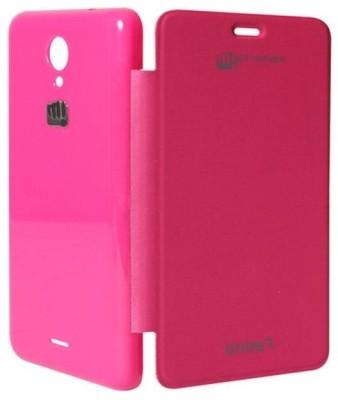 Chevron Flip Cover for Micromax Unite 2 A106 (Pink)