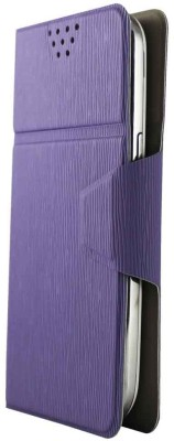 Molife Flip Cover for Lenovo A6000 (Purple)