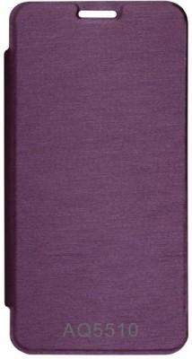 Chevron Flip Cover for Micromax YU Yureka AQ5510 (Purple)