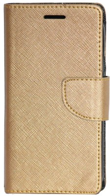 Gizmofreaks Flip Cover for Micromax Canvas Spark 3 Q385(Gold)