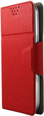Molife Flip Cover for Micromax Canvas 2 Colors A120 (Red)
