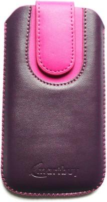Emartbuy Pouch for Meizu Pro 6(Purple / Hot Pink Plain)