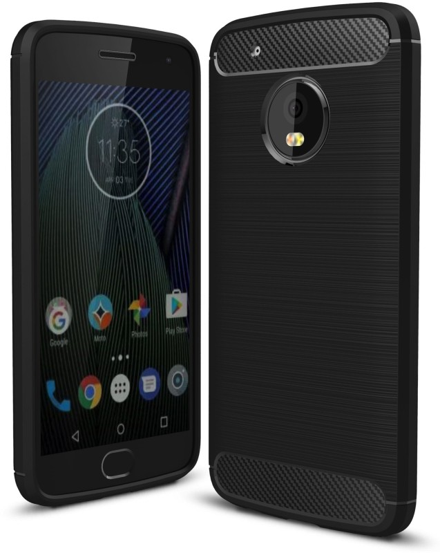 Golden Sand Back Cover for Motorola Moto G5 Plus(Metallic Black)