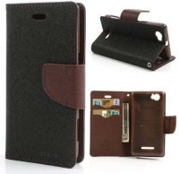 Brand Fuson Wallet Case Cover for Mercury Fancy Diary Card Wallet Flip Case Back Cover For Micromax Canvas 2 Colors A120