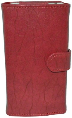 JVM Wallet Case Cover for ZTE Nubia Prague S(Red)