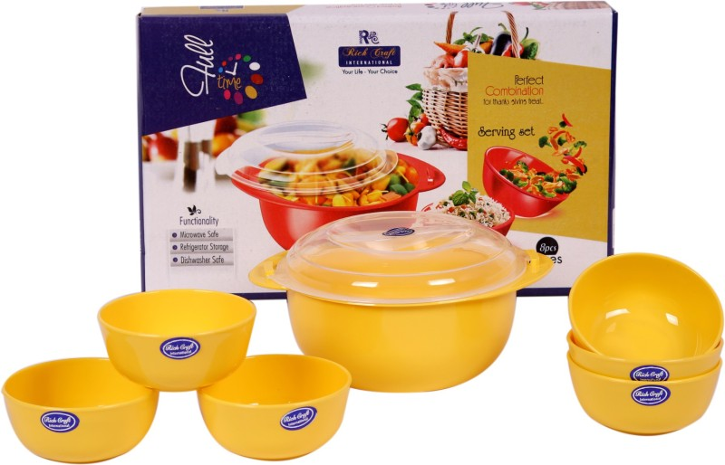 RICH CRAFT Plastic Disposable Bowl Set(Yellow)