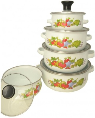 Ideal Home Enamel Pots Pack of 5 Casserole Set