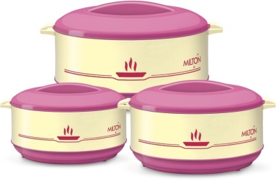 Milton Buffet Junior Set (0.45/0.82/1.55 ltrs) -insulated Plastic - Kitchen Hot Food Pack of 3 Casserole Set