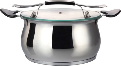 Krome by Jindal Stainless Steel with Lid 20cm Casserole(2000 ml)