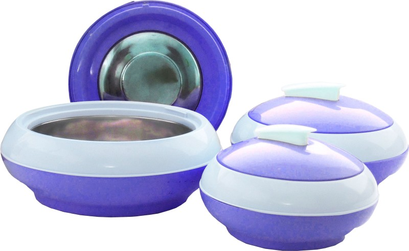 Princeware Cosmic Pack of 3 Casserole Set(600 ml, 1000 ml, 1500 ml)
