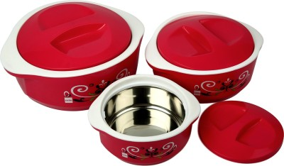 Cello Hot Meal Insulated Pack of 3 Casserole Set(500 ml, 850 ml, 1500 ml)