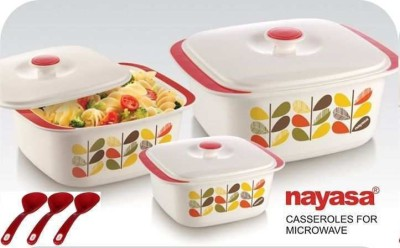 Nayasa Delish Pack of 3 Casserole Set