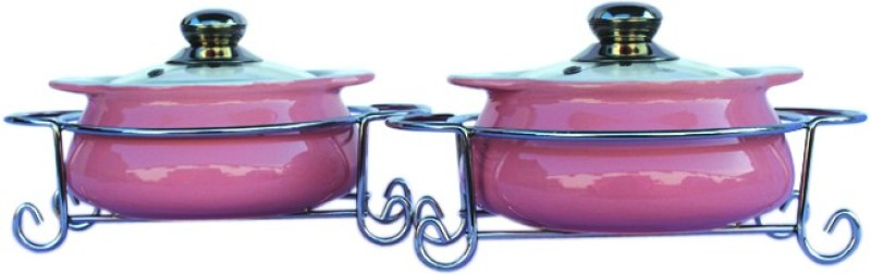 Rosa Italiano Pack of 2 Casserole Set(1000 ml)