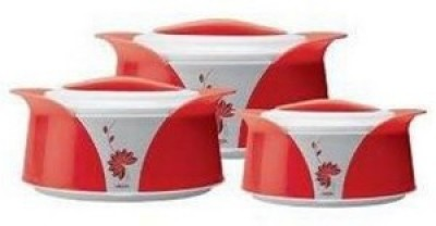 Milton Imperial Red Casserole- 3 Pcs Pack of 3 Casserole Set