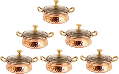 Indian Art Villa Pack of 6 Casserole Set(2.4 L)