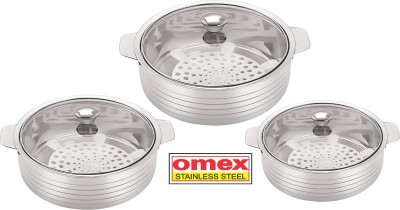 Omex Pack of 3 Casserole Set