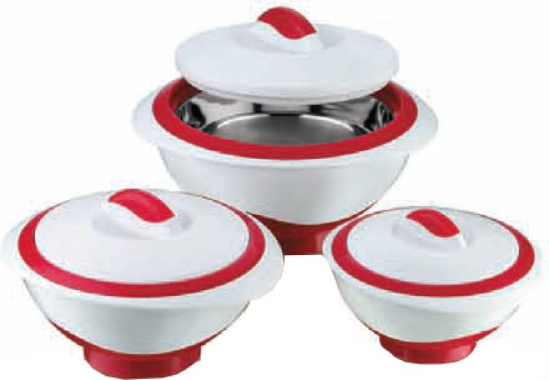Pinnacle Metallic Pack of 3 Casserole Set(1000 ml, 500 ml, 2000 ml)