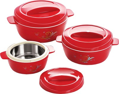 Cello Alpha Insulated Pack of 3 Casserole Set(1500 ml, 850 ml, 500 ml)
