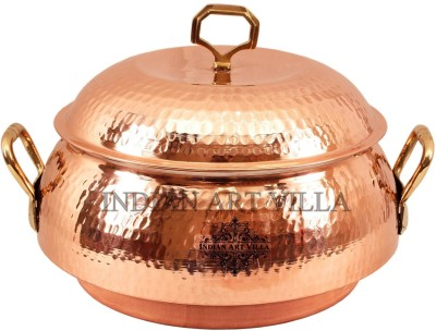 IndianArtVilla Steel Copper Casserole(2300 ml)
