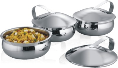 Krome by Jindal Stainless Krome Casserole(1250 ml)