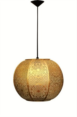 Logam Gold Zellige Round Morrocan Pendants Ceiling Lamp